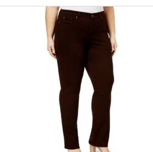 CHARTER CLUB Women's jeans Brown Straight Leg